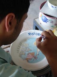 Ceramica Solimene_Dettaglio decorazione