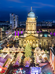 Christmas Maket (Gendarmenmarkt) in Berlin from above; Shutterstock ID 212916067; PO: redownload; Job: redownload; Client: redownload; Other: redownload